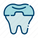 crowning, dental care, dental treatment, dentist, health, molar crown, tooth icon
