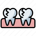 clear, crack, dental, dentist, healthcare, medical, molar, premolar, teeth, tooth icon