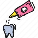 dental, dental drops, dropper, tooth, tooth drops icon icon