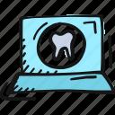 dental, health, healthcare, laptop, medicine, teeth icon icon