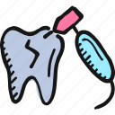 dental, dentist, drilling, drilling tooth, medical, teeth, tooth icon icon