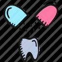 brushing, dental, dentifrice, stomatology, teeth, teethcare, tooth powder icon icon