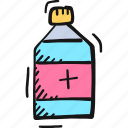 bottle icon, drug, medicine, syrup icon