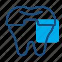 crowning, dental care, dental treatment, dentist, health, molar crown, tooth icon