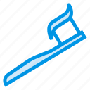 brush, dental, floaride, health, human, tooth icon