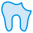 cavity, damage, dental, human, medical, pain, tooth icon