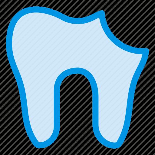 cavity, damage, dental, human, medical, pain, tooth icon