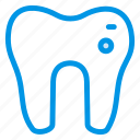burning, cavity, dental, filling, health, human, tooth icon