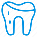cavity, damage, floaride, medical, teeth, tooth, waste icon