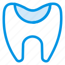 cavity, damage, dental, dentist, doctor, half, tooth icon