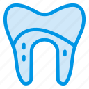 caveat, damage, damaged, dental, human, medical, tooth icon