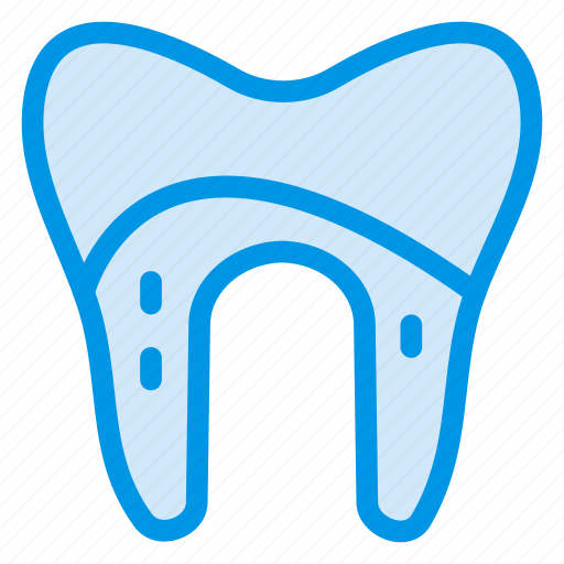 caveat, damage, damaged, dental, human, medical, tooth icon