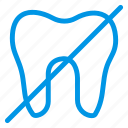 broke, health, human, oral, remove, root, tooth icon
