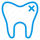 caveat, dental, filling, health, medical, remove, tooth icon