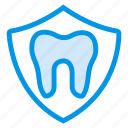 antivirus, badge, dental, dentist, health, security, tooth icon