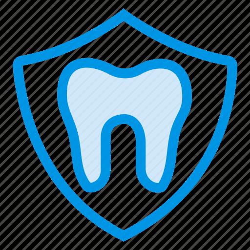 antivirus, badge, dental, dentist, health, security, tooth icon