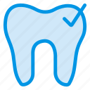 cavity, checkup, dental, dentist, healthcare, tick, tooth icon