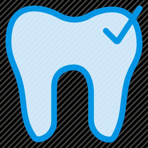 cavity, checkup, dental, dentist, healthcare, tick, tooth icon