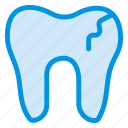 broke, damage, dental, dentist, filling, human, tooth icon