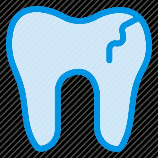 broke, damage, dental, dentist, filling, human, tooth icon