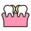 cavity, dental, dentistry, plaque, teeth, tooth, tooth decay icon