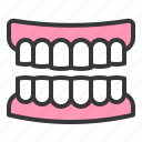 dental, dentistry, denture, gums, medical, teeth, tooth icon