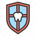 dental, dentistry, emblem, guard, shield, teeth, tooth