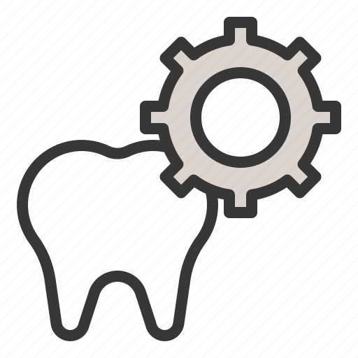 Dental, dentist, gear, service, settings, tooth icon - Download on Iconfinder