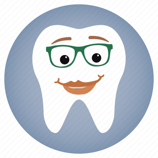 dental, dentist, glasses, lady, tooth icon