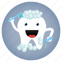 bathing, dental, dentist, tooth, washing icon