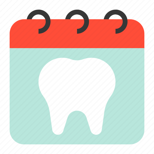 appointment, calendar, dental, dentist, dentistry, schedule, tooth icon
