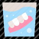 dental, dentist, dentistry, denture, glass, gums, water icon