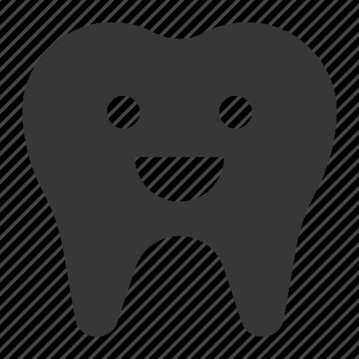dental, dentist, emotion, happy, smile, tooth icon