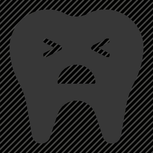 dental, dentist, dentistry, emotion, hurt, tooth icon