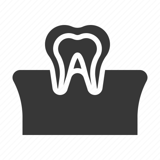 dental, dentist, dentistry, gums, teeth, tooth, tooth and gum icon