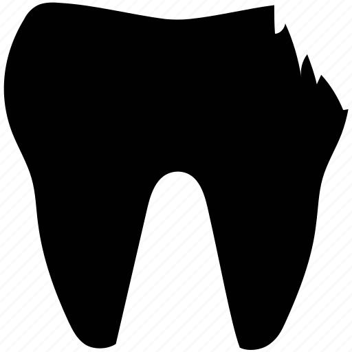 dental problem, human tooth, molar with disease, tooth problem, tooth with disease icon