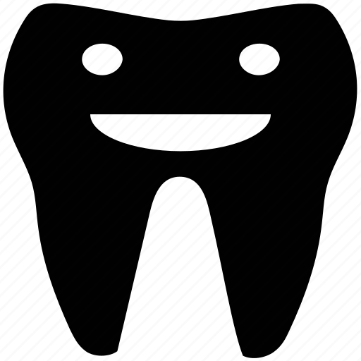 cartoonist tooth, healthy tooth, smiling tooth, strong tooth, tooth icon