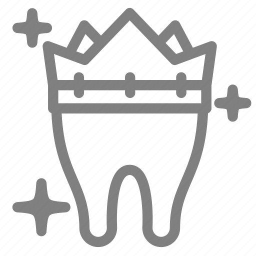 clean, crown, dental, health, stomatology, tooth icon