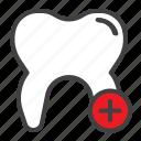 add, tooth, plus, dental