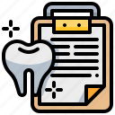 checkup, dental, dentist, report, teeth, tooth icon