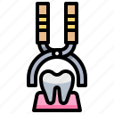 dental, dentist, extraction, teeth, tool, tooth icon