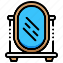 dental, dentist, mirror, tool icon