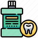 clean, dental, dentist, mouthwash, teeth, tooth icon