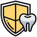 dental, dentist, protection, security, teeth, tooth icon