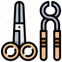 dental, dentist, scissor, tool icon