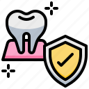 dental, dentist, protection, shield, strong, teeth, tooth icon