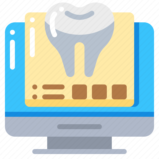computer, dental, dentist, report, teeth, tooth icon
