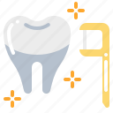 dental, dentist, floss, teeth, tooth icon