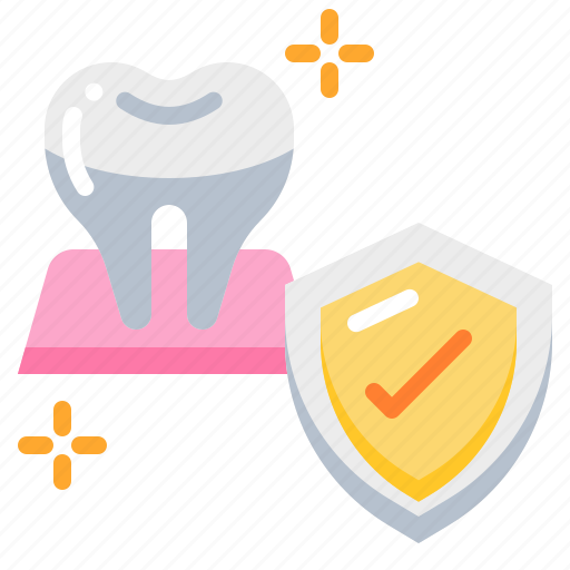 Dental, dentist, protection, shield, strong, teeth, tooth icon - Download on Iconfinder