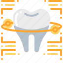 dental, dentist, technology, teeth, tooth icon